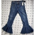 Citizens of Humanity Blue Medium Wash Anthropologie Drew Cropped Flare Leg Jeans Size 26 (2, XS) Citizens of Humanity Blue Medium Wash Anthropologie Drew Cropped Flare Leg Jeans Size 26 (2, XS) Image 4