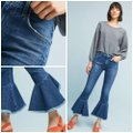 Citizens of Humanity Blue Medium Wash Anthropologie Drew Cropped Flare Leg Jeans Size 26 (2, XS) Citizens of Humanity Blue Medium Wash Anthropologie Drew Cropped Flare Leg Jeans Size 26 (2, XS) Image 9
