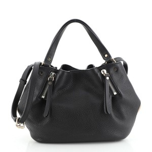 Burberry Maidstone Leather Tote in Black