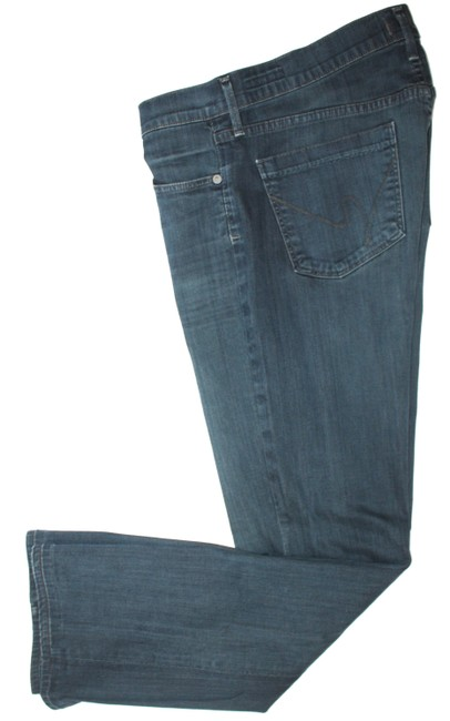 Item - Dark Blue Rinse By Jerome Danan Straight Leg Jeans Size 31 (6, M)