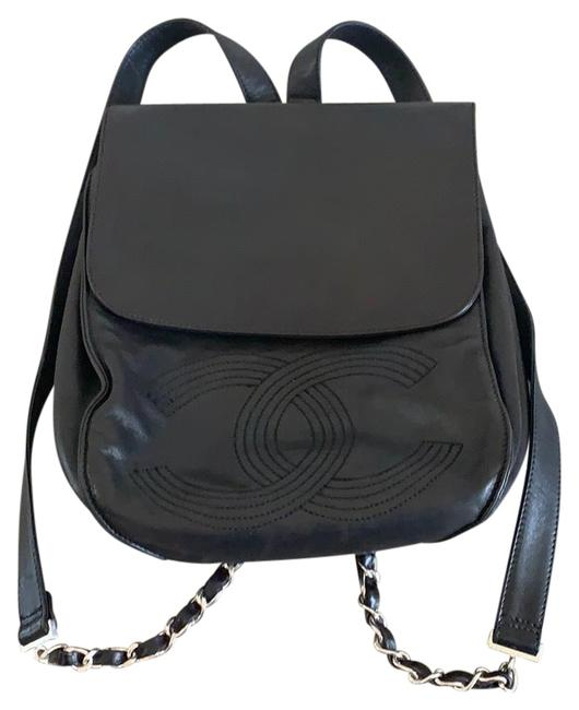 Item - Perfect For Everyday and Travel Black Lambskin Leather Backpack