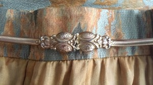Vintage 70s Ornate Metal Stretchy Belt