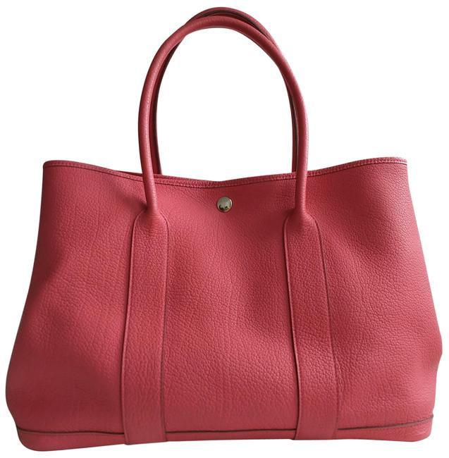 Item - Garden Party Gm Pink Leather Tote
