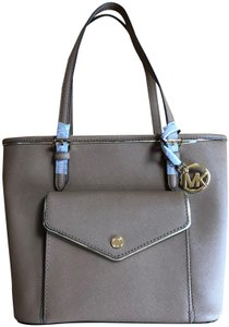 Michael Kors Saffiano Leather Pocket Tote in Brown