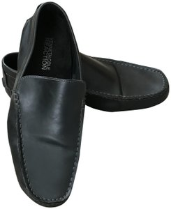 Kenneth Cole Reaction Men's Size 9.5m World Hold On Man Made Materials Driver Rubber Slip-on Style Black Flats