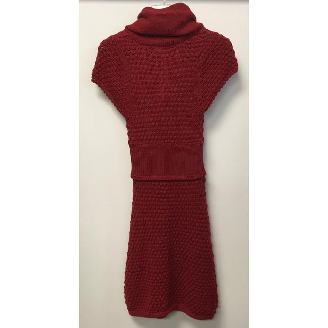 Tulle Red Cowl Neck Sweater Mid-length Casual Maxi Dress Size 6 (S) Tulle Red Cowl Neck Sweater Mid-length Casual Maxi Dress Size 6 (S) Image 2
