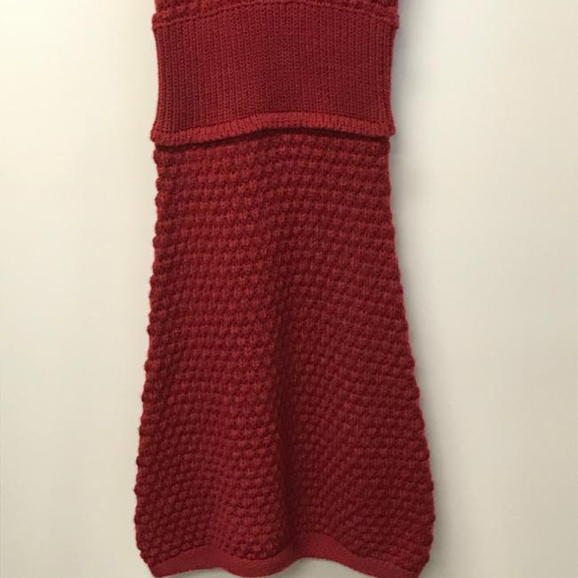 Tulle Red Cowl Neck Sweater Mid-length Casual Maxi Dress Size 6 (S) Tulle Red Cowl Neck Sweater Mid-length Casual Maxi Dress Size 6 (S) Image 3
