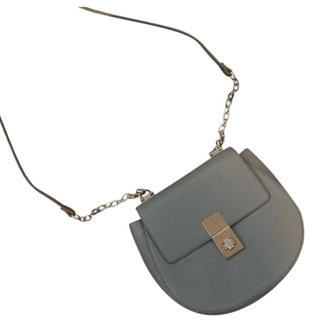 Item - Twist Clasp Half-moon Taupe Gray Gold Faux Leather Cross Body Bag