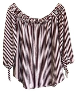 Blu Pepper Plus Size 3/4 Sleeve Nordstrom Striped Top Red Blue