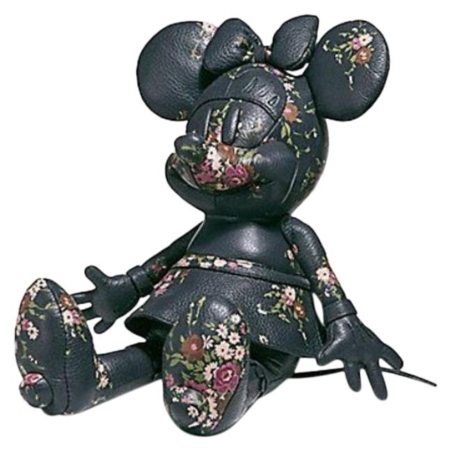 Item - Navy Limited Edition Minnie Mouse Leather Doll Black Floral