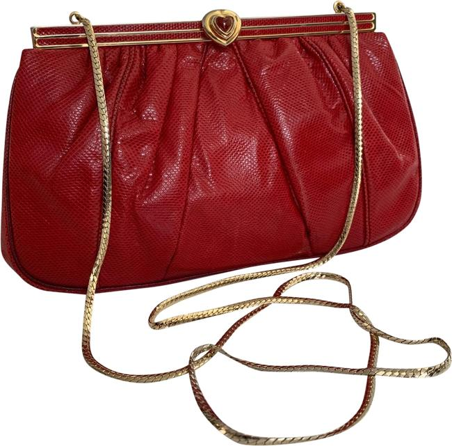 Item - Vintage Red Leather Clutch