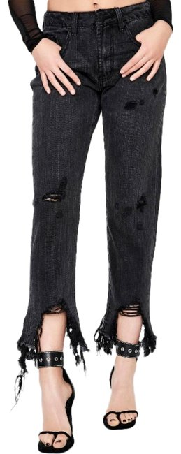Item - Black Distressed Volcanic High Waist Awesome Baggies Boyfriend Cut Jeans Size 28 (4, S)
