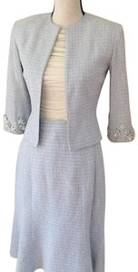 David Rodriguez Tweed Skirt Suit