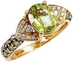 LeVian LeVian 14K Rose Gold Diamond & Peridot Ring