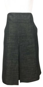 Magaschoni Pleats Pockets Straight Skirt Gray