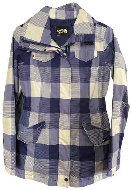 Item - Blue & White Plaid Nf00cmb2 Jacket Size 0 (XS)