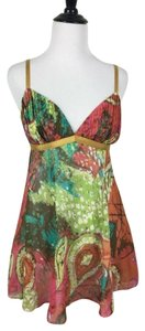Trina Turk Summer Nightout Spaghetti Straps Top Multi-Color