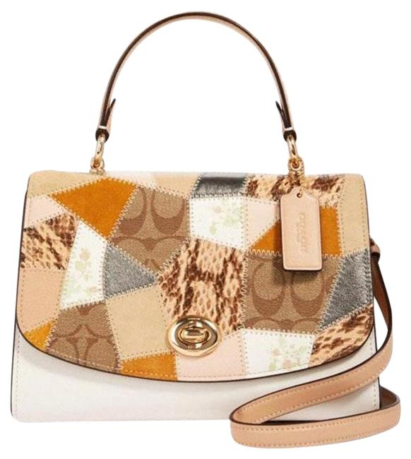 Item - Tilly Top Handle Mixed Patchwork Chalk Multi Leather Satchel