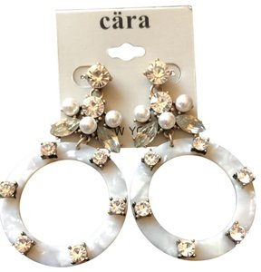 Cära Couture Jewelry Drops Crystals Hoops