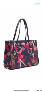 Trina Turk Tote in navy blue pink red