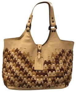 Mulberry Tote in Ivory, Camel & Brown