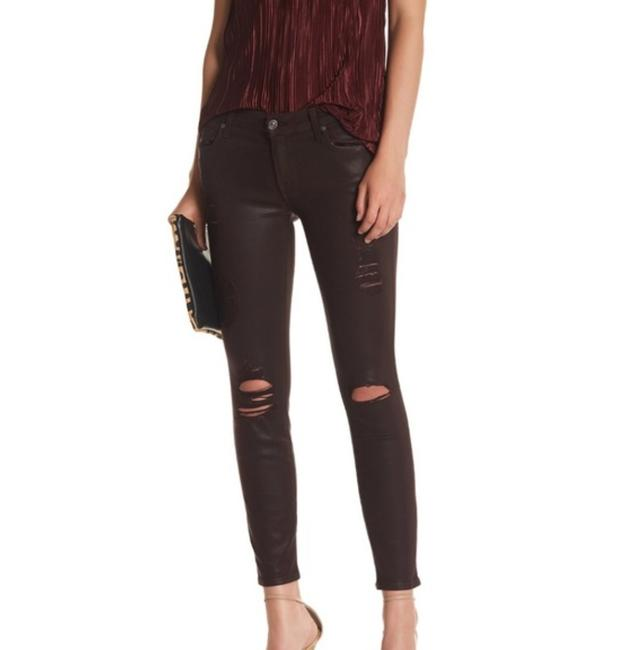 Item - Plum Distressed Ankle Coated Skinny Jeans Size 29 (6, M)