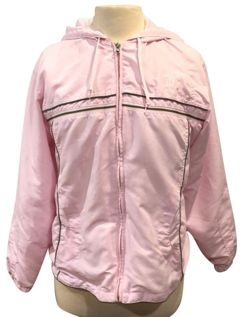 Item - Pink Suede Warm-up Hoodie Activewear Size 12 (L)