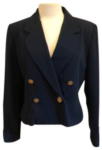 Albert Nipon Navy Blue Blazer