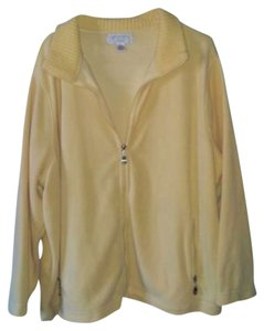 Casual Corner Annex Fleece Zipper Yellow Jacket