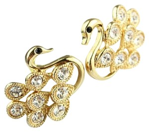 Other Fether Swan Ear Stud Earrings