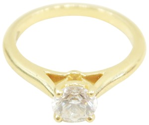 Cartier Cartier Yellow Gold Diamond Engagement Size 47 Ring