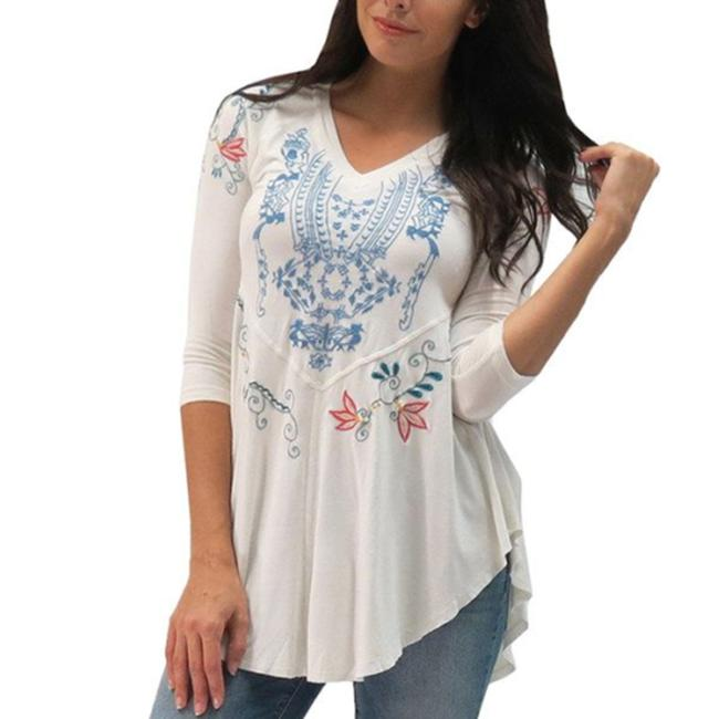 Item - White XS Anthropologie Lanie Embroidered Holiday Tunic Size 2 (XS)