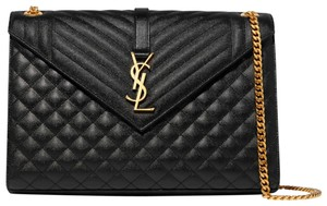 Saint Laurent Ysl Large Quilted Cross Body Bag