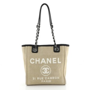 Chanel Canvas Tote in Neutral