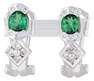 LeVian Le Vian Green Tsavorite Garnet Diamond Drop Earrings 18k Omega Backs