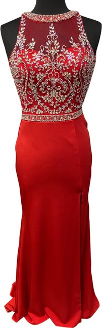 Item - Red 12658 Long Formal Dress Size 6 (S)