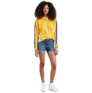 Levi's Midcalf Sculpt Stretchy Mid Rise Denim Cuffed Shorts Blue