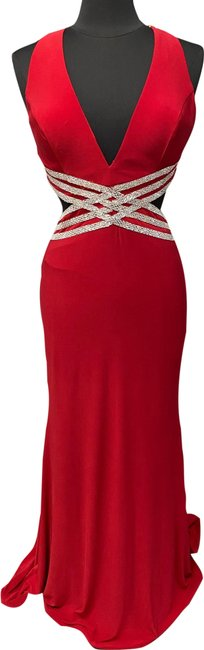 Item - Red 60538 Long Formal Dress Size 6 (S)