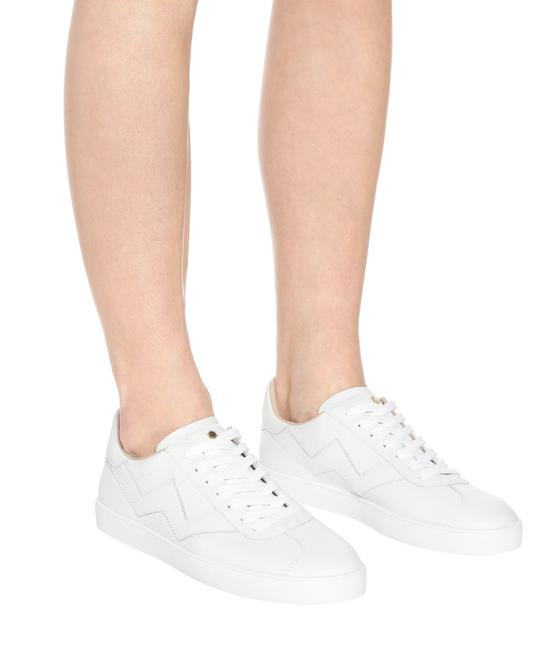 Item - White Nappa Leather Women's Daryl Low-top Sneakers Size US 8 Regular (M, B)