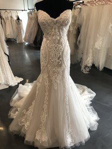 Maggie Sottero Ivory Over Blush Tulle with Lace Motifs Quincy Sexy Wedding Dress Size 16 (XL, Plus 0x)