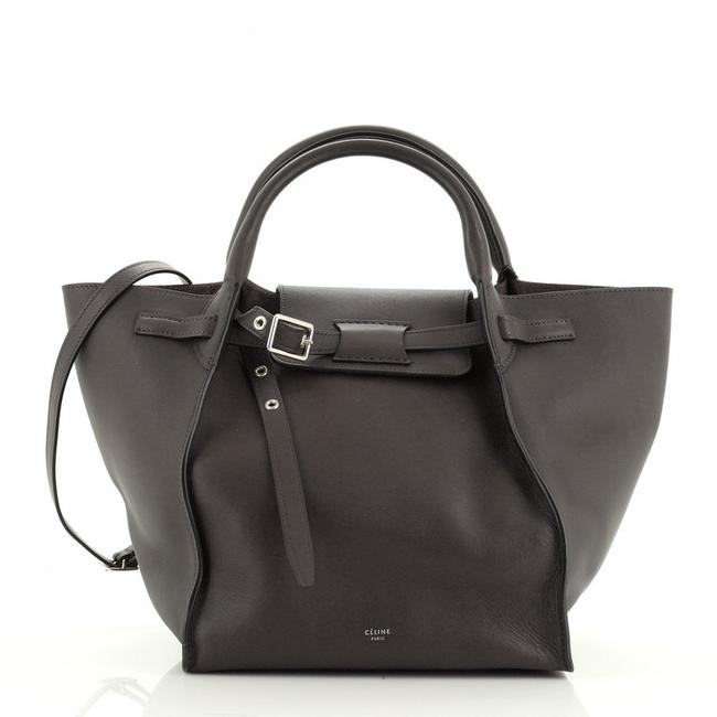 Item - Big Smooth Calfskin Small Brown Leather Shoulder Bag