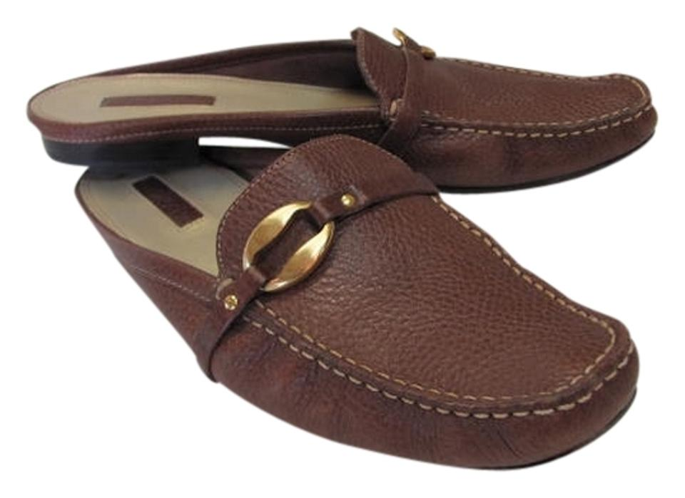 Unisa Good Brown Leather 10m Very Good Unisa Condition Mules/Slides 7d40c2