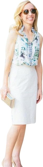 Item - Ivory Leather Skirt Size 6 (S, 28)