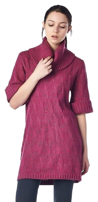 Item - Purple Cowl Neck Variegated Sweater Mid-length Short Casual Dress Size 8 (M)