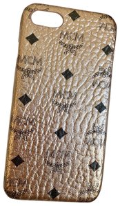 MCM Rose Gold Coated Canvas Iphone 6/7/8 Cell Phone Case MZE8AVI95TC001