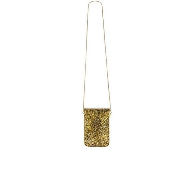 Item - Gold Metal Cross Body Bag