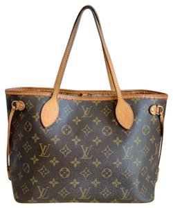 Louis Vuitton Neverfull Pm Monogram Tote in Brown
