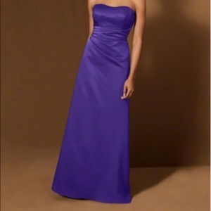 Alfred Angelo Eggplant Polyester Lb-fe3026 Formal Bridesmaid/Mob Dress Size 6 (S)