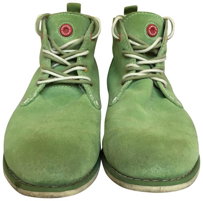 Green Suede Leather Boots/Booties Size US 8 Regular (M, B) Green Suede Leather Boots/Booties Size US 8 Regular (M, B) Image 1