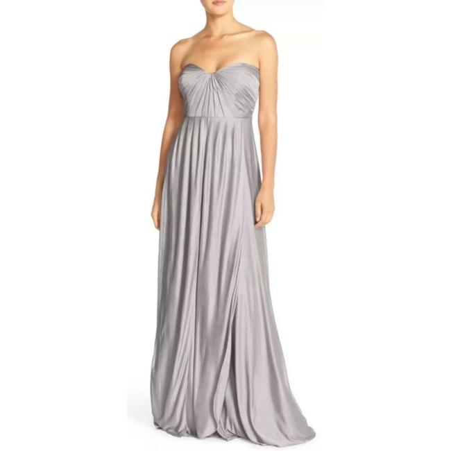 Item - River Stone Jersey Demi Convertible Strapless Pleat Bridesmaids Gown Long Night Out Dress Size 2 (XS)
